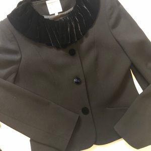 VINTAGE Inez de la Fressange Jacket Velvet Collar
